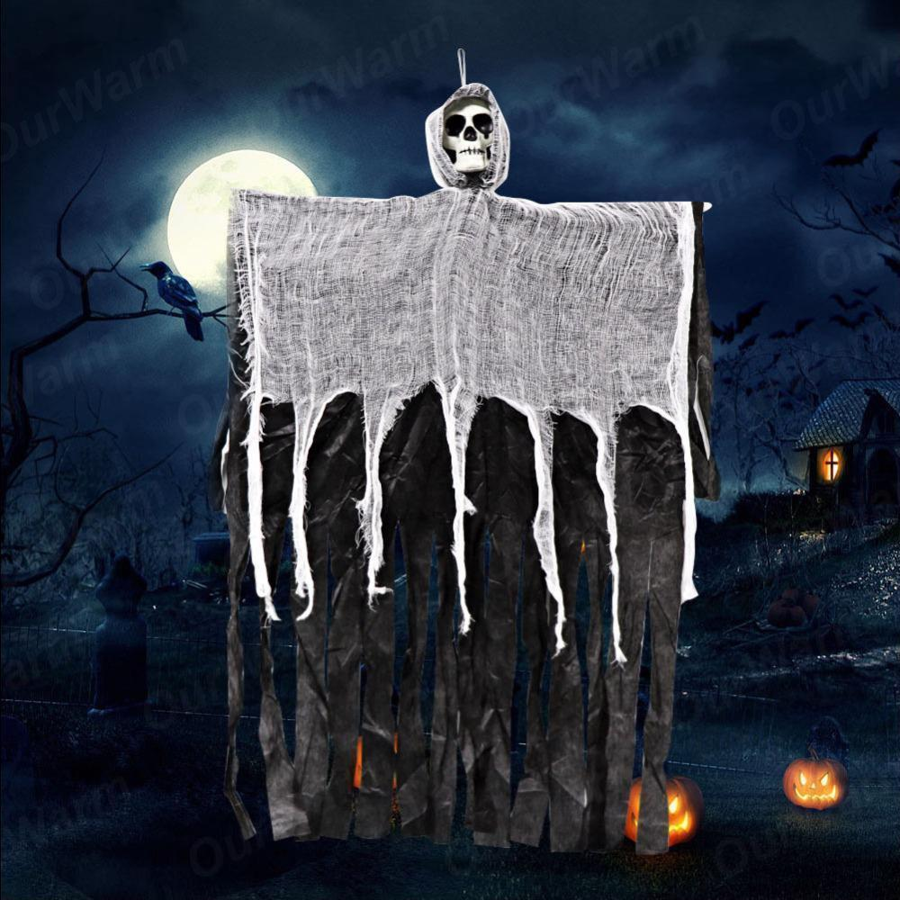Halloween Party Hanging Ghost Haunted House Decor Skull Scary Reaper Horror
