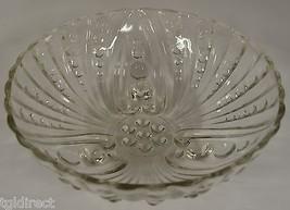 "Vintage Anchor Hocking Glass Burple Clear Pattern Large Dessert Bowl  8.5"" Round - $14.99"