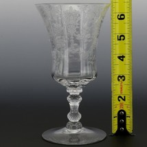 Cambridge Crystal Rose Point Goblet 3500 10 OZ Footed Water image 2