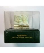 """Dept. 56 Snowbabies Angels """"Surprise"""" Bisque Porcelain Trinket Box No. 6... - $8.99"""