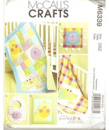 Sew Sweet Chic Quilt, Lion Toy, Taggy Blanket, Bib Pattern McCall's 6339... - $5.99