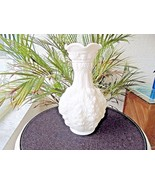 "Imperial Glass Loganberry #477 White Satin 10"" Vase Signed - $19.80"
