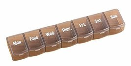 George Jimmy Portable 7 Grids for A Week Pill Organizer Convenient Pill Case-Gra - $11.48