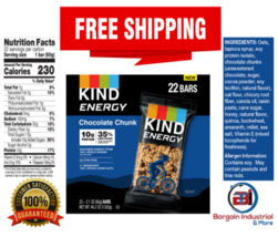 KIND Energy Bars Gluten Free Healthy Protein Snack Chocolate Chunk 22-COUNT - $33.76