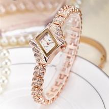 2019 JW Top Brand Women Bracelet Watches Luxury Rhinestone Gold Dress Wa... - $39.20