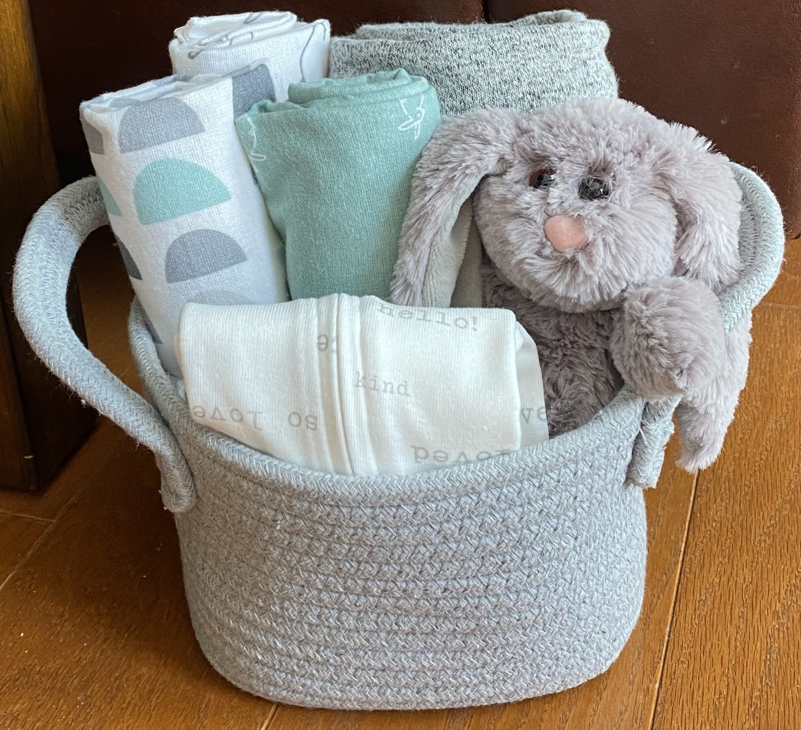 Primary image for Rowan Rabbit Baby Gift Basket- Small