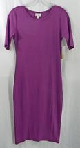Womens LuLaRoe Dress Julia XXS Dark Red Violet NWT - $44.59