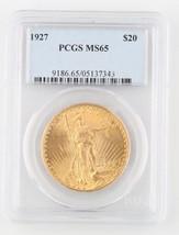 1927 US $20 Gold Saint-Gaudens Coin MS-65 PCGS Philadelphia Double Eagle KM-131 - $2,791.80