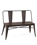 Mid-Century Industrial Metal Dining Bench - $141.90