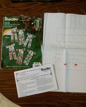 Open Bucilla Merry Bows CrossStitch Kit Incomplete 1996 No Floss - $19.99