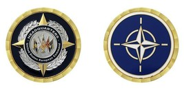 "NATO WORLD HEADQUARTERS EUROPEAN COMMAND 1.75 "" CHALLENGE COIN - $18.04"