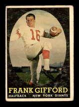 VINTAGE NFL 1958 Topps #73 Frank Gifford  G/VG  - $19.79
