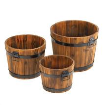 Country Barrel Planters Set 10015114 - $1.359,84 MXN