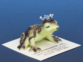 Birthstone Frog Prince Kissing March Aquamarine Miniatures by Hagen-Renaker image 2