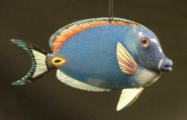 Tiki Deck Dark Blue Tang 4 Inch Tropical Fish Ornament - $15.98