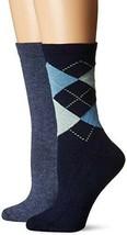 HUE Womens Argyle Boot Socks 2 Pack Navy Blue - $14 - NWT - $9.44