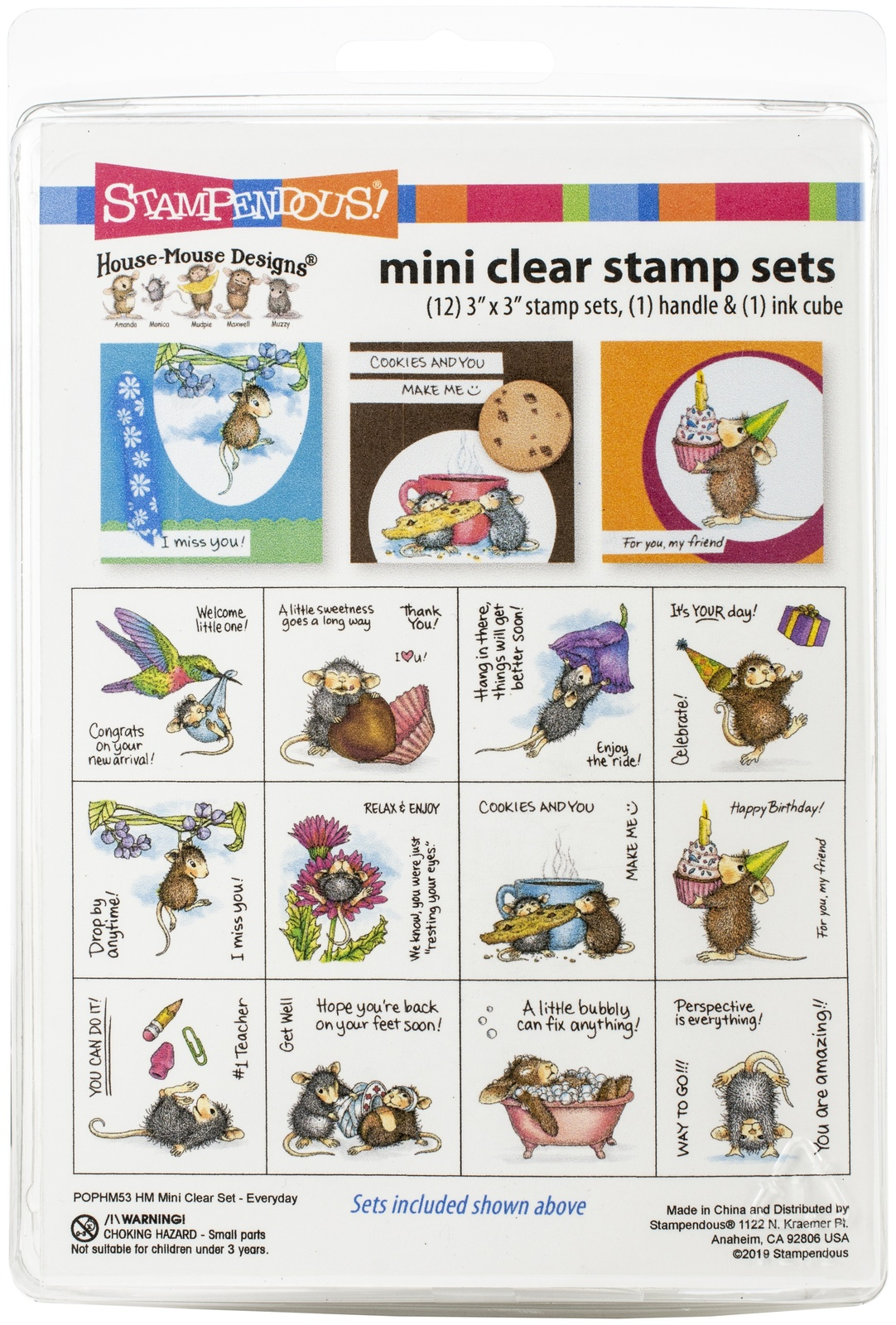 Stampendous House Mouse Mini Clear Stamp Set-Everyday - $20.64