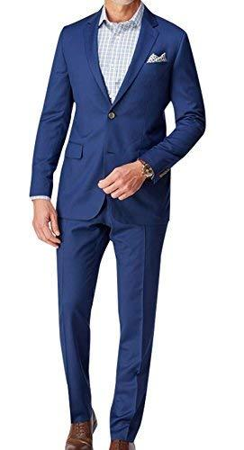 2 Piece Men's Indigo Slim Fit Formal Suit