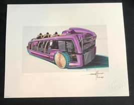 DISNEYLAND Gallery Tomorrowland ROCKET RODS Lithograph Concept Art LE Si... - $93.14