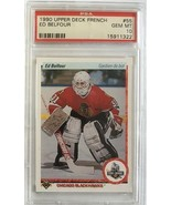 1990 Upper Deck French #55 Ed Belfour Blackhawks PSA Gem Mint (10) - $70.16