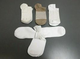 Universal Thread Women's 6pk No Show Socks, Cream/Brown/White, Size 4-10... - $11.69