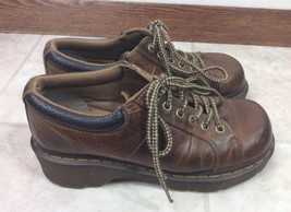 Dr Martens Brown Melissa Leather Shoes Chunky Women's Size 9 - $28.04