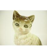 Cat Kitty Kitten Tabby Porcelain Figurine Vintage Japan YOKO BOEKI Felin... - $22.72