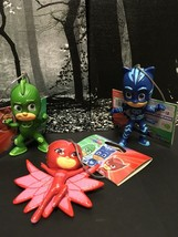 New PJ MASKS Christmas Ornaments Set of 3 Owlette Gekko Catboy by Kurt Adler - $29.62