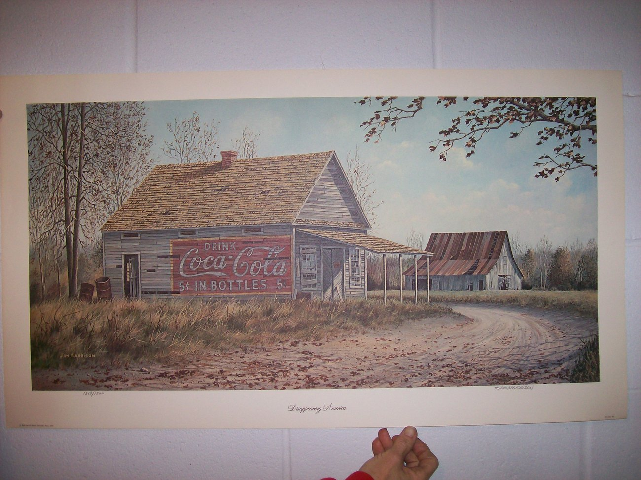 Primary image for Jin Harrison's Coca Cola Barn-Signed & numbered