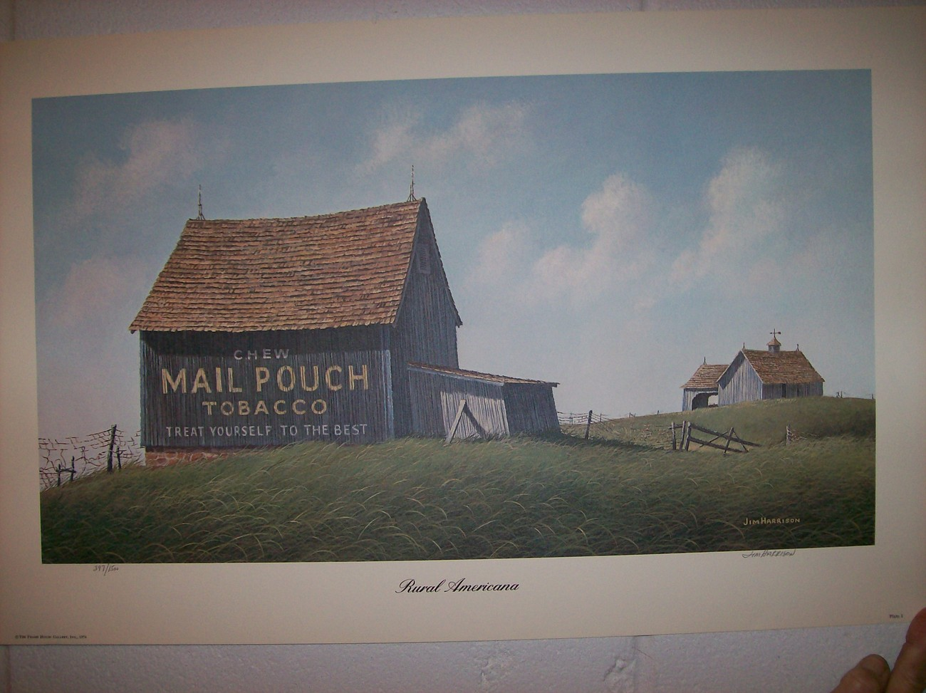 Primary image for Jim Harrison's  Mail Pouch Tobacco-Signed & Numbered