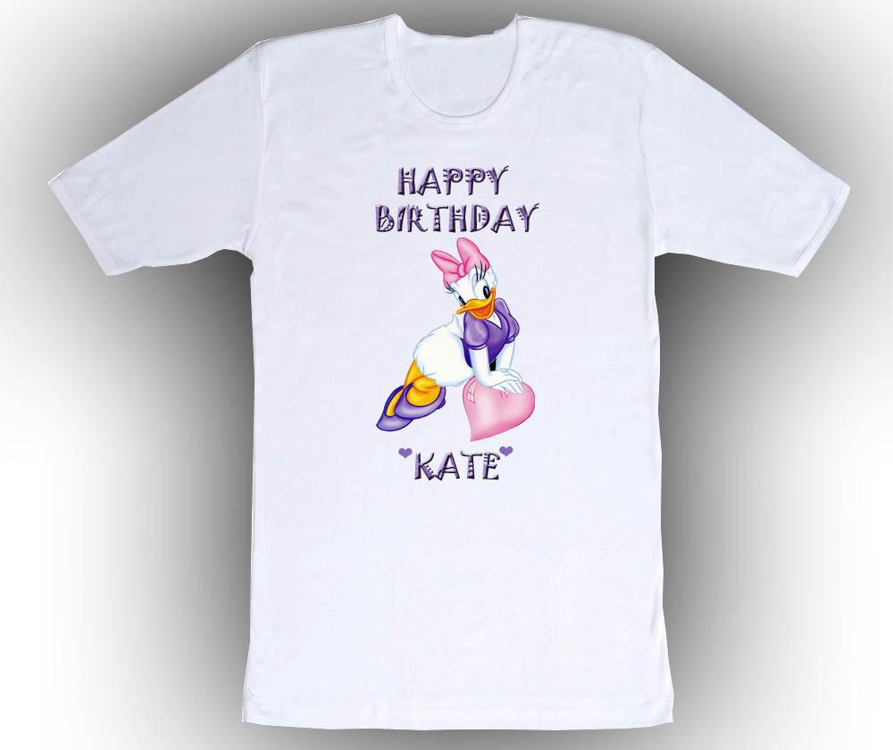 Personalized custom daisy duck birthday t shirt gift t for Custom t shirts personalized gifts
