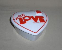 Artmark Chicago Valentine Ceramic Heart Jewel Trinket Box image 1