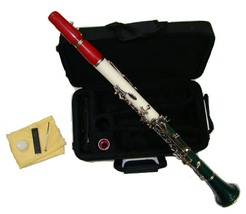 Merano B Flat Red-White-Green Clarinet with Carrying Case  - $86.00