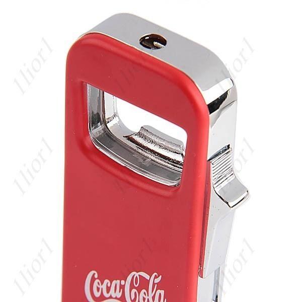coca cola cigarette lighter butane gas flame led refillable light bottle opener other. Black Bedroom Furniture Sets. Home Design Ideas