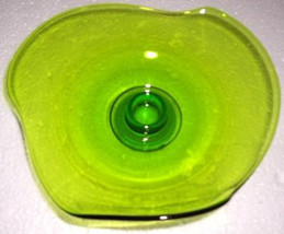 Handblown Contour Vaseline Green Depression Pressed Glass Table Display - $139.99