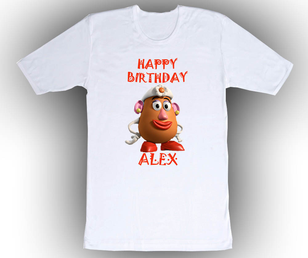 Personalized Toy Story Mrs Potato Head Birthday T-Shirt Gift - $14.99
