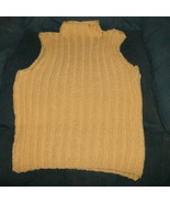 hand knitted sleeveless pullover shell in 100% ... - $20.00