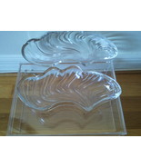Mid-Century/Hollywood Regency Glass Feather/Plu... - $11.99