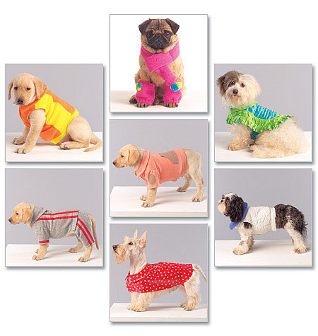 McCall's M5776 Dog Coats, Scarf And Leg Warmers Pattern S-XL