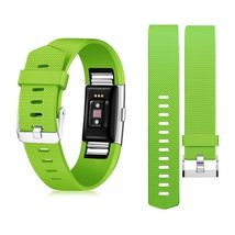 2 Pack Zodaca Wristband w/Metal Buckle Clasp For Fitbit Charge 2 Green - $414,15 MXN