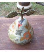 Vintage Hand Painted Brass Pear Lot # 22 - $40.00