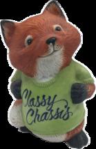 1981 Hallmark Shirt Tales Ceramic Figurine Fox- Classy Classics - $14.99