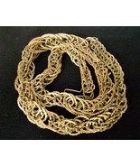 Vintage Brutalist Snake Chain Modernist Industrial Brass Necklace 1970s - $28.00