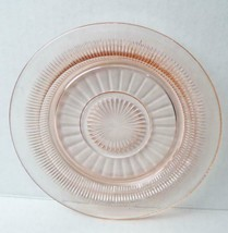 "Anchor Hocking Pink Coronation Plate Saxon Saucer Depression Glass  6"" - $10.88"
