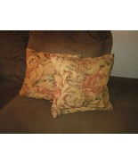 2 chenille pillows size 18 x 18 great for sofa or bed heavy weight material - $30.00