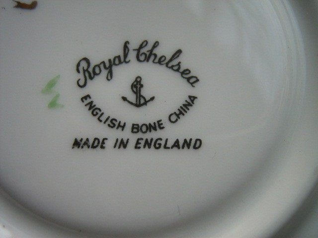Royal Chelsea English Bone China Cup & Saucer - Discontinued Pattern - 1950s