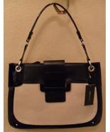 NWT BCBG MAXAZRIA Eugenie Canvas & Leather Shoulder Bag Handbag (MAKE AN... - $164.93