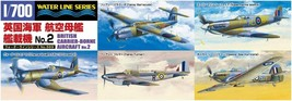 Aoshima 1/700 No.569 BRITISH CARRIER-BORNE AIRCRAFT No.2 Model Kit w/Tra... - $14.70