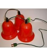 Large Vintage Red Plastic Blinking Bell Lights - $29.99
