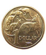 ASTRALIA KANGAROOS COIN Vintage 1984 First One Dollar Copper - $6.99